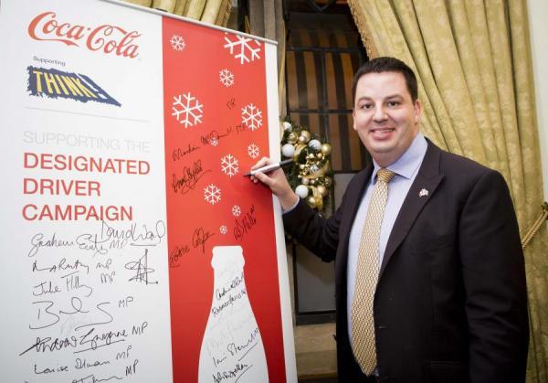 Andrew invites designated drivers to celebrate Christmas with Coca-Cola