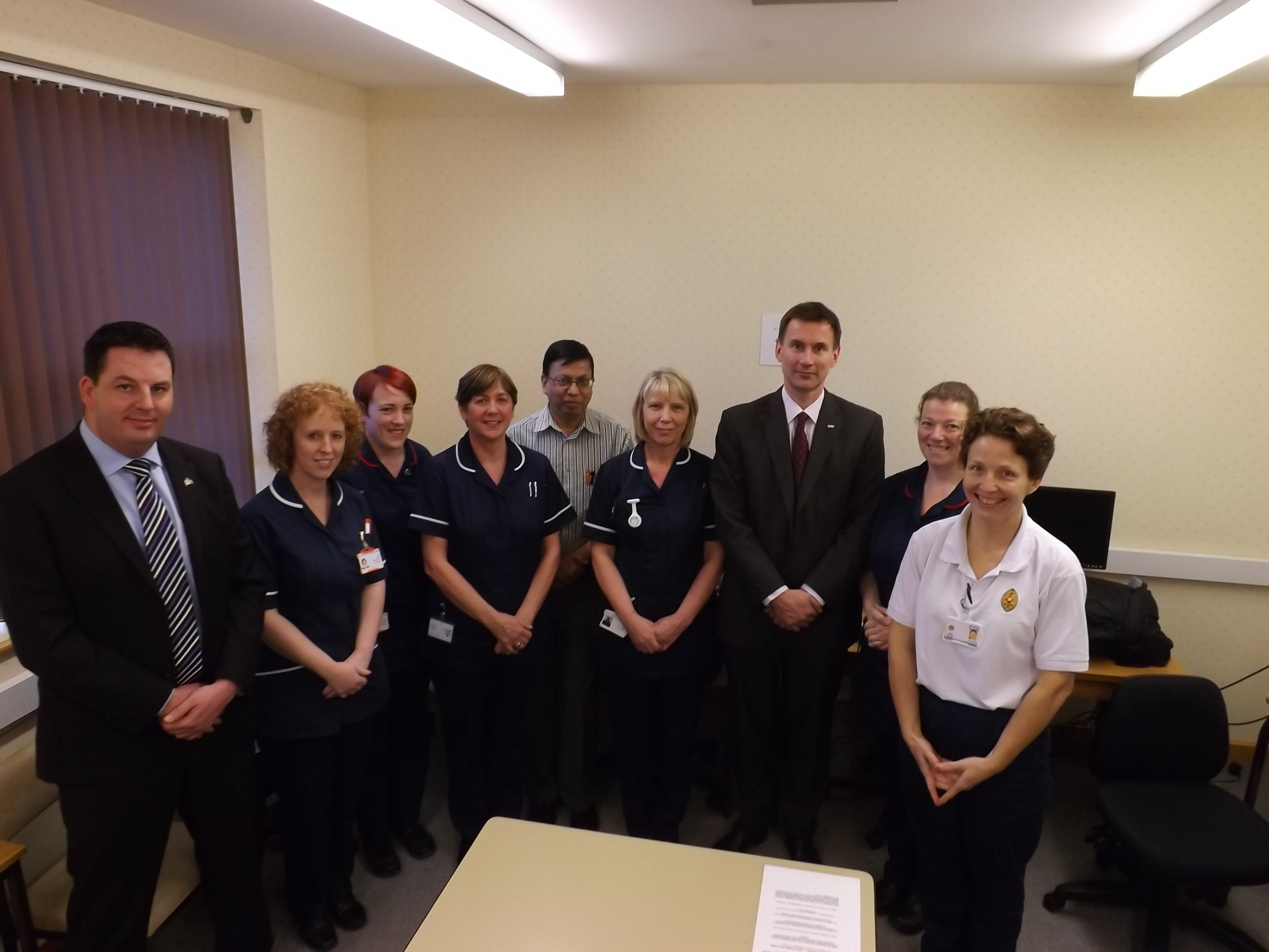 Secretary of State for Health Visits Goole & District Hospital