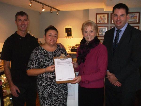 Andrew Presents Rural Fair Share Petition to Parliament