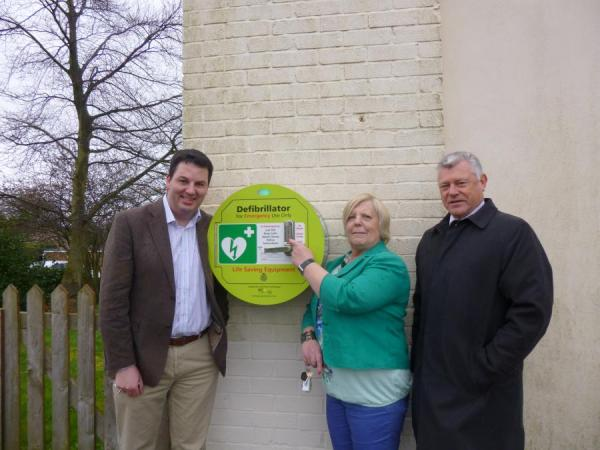 Another Community Defibrillator Secured