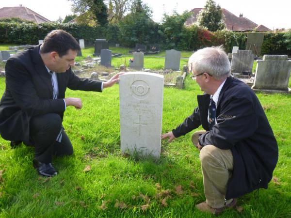 Andrew Visits Commonwealth War Graves