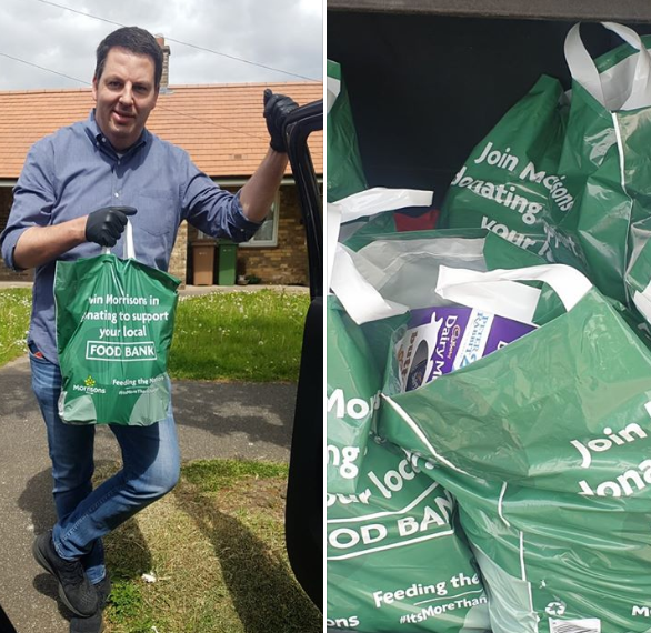 Andrew Delivers Food Parcels from the Two Rivers  Food Bank