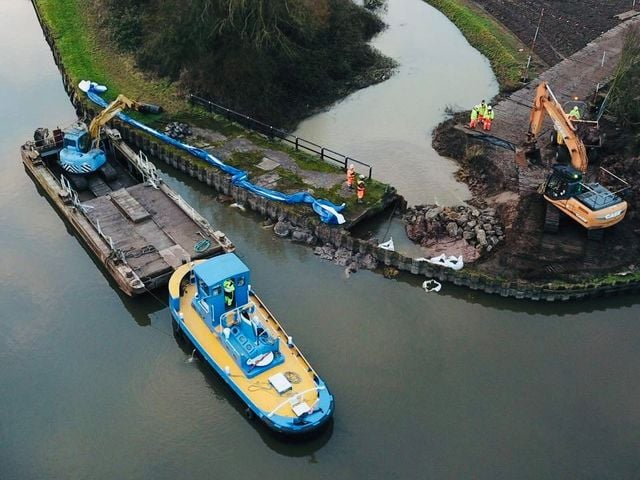 Canal Breach - Aerial Views