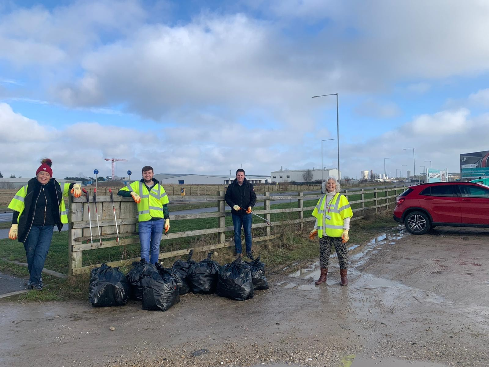 Andrew 'pledges to pick' as Keep Britain Tidy launches its massive Great British Spring Clean.
